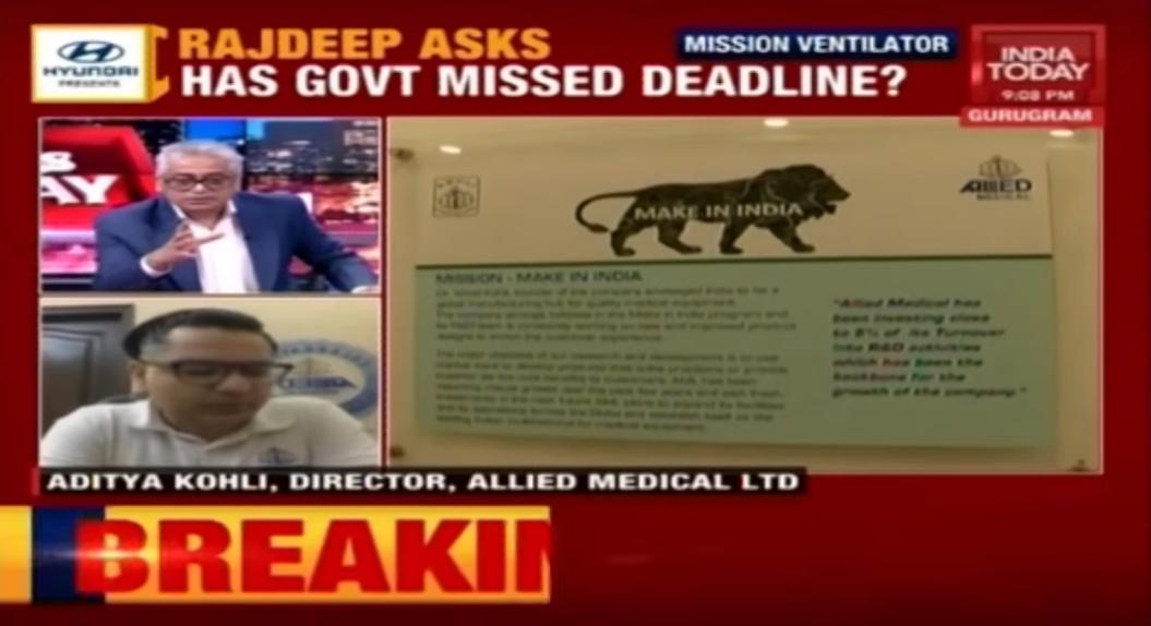 India Today's Rajdeep Sardesai speaks to Allied Medical CEO Adita Kohli